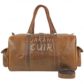 Moroccan Leather Travel Bag Réf:R9A