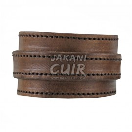 Modern Moroccan Leather Bracelet