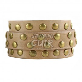 Modern Moroccan Leather Bracelet Ref:BR4B