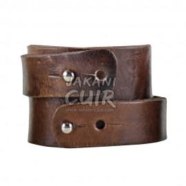 Bracelet En Cuir Marocain artisanal Réf:BR8A